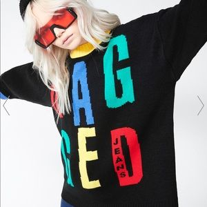 The Ragged Priest color block sweater small